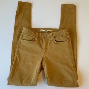 Joe's Jeans Mustard Yellow Skinny Jeans Size 24
